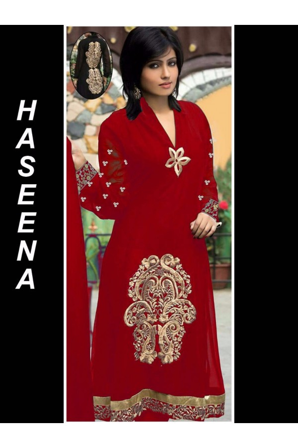Bollywood Replica - Wedding Wear Red Salwar Suit - Haseena01