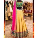 Bollywood Replica -  Wedding Wear Yellow Silk Lehenga Choli  - 9091