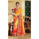 Party Wear Multicolor Georgette  Saree - 3512