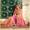 Party Wear Pink & Red Georgette  Saree - 3506