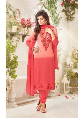 Party wear Red Georgette Salwar suit - 228