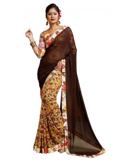 Ethnic Wear Multicolour Weightless Saree  - TM-242