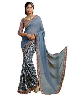 Casual Wear Multicolour Weightless Saree  - TM-246