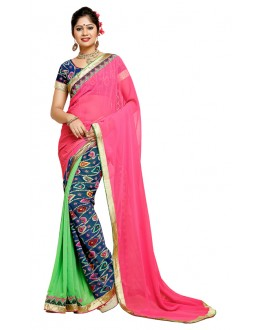 Ethnic Wear Multicolour Georgette Saree  - TM-183