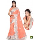 Bollywood Replica - Designer Peach Saree - TM-524