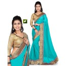 Bollywood Replica - Designer Turquiose Saree - TM-532