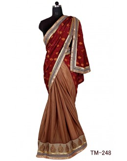 Casual Wear Multicolour Chinon Saree  - TM-248