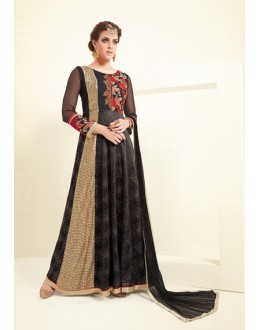 Eid Special Black Mono Net Anarkali Suit - VLT1895PRIVLTHR