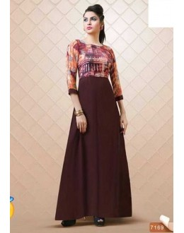 Fancy Readymade Brown Kurti - Aditi7169