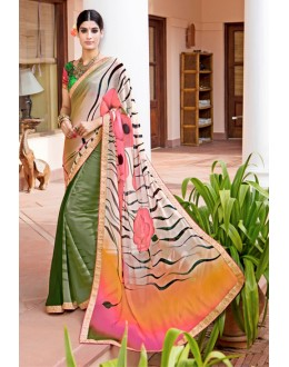 Casual Wear Multi-Colour Georgette Saree  - Akanksha9005