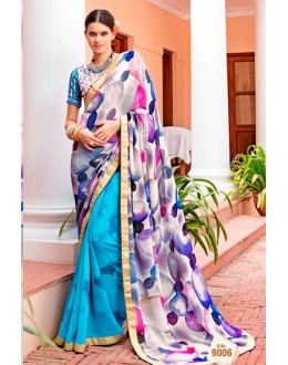 Casual Wear Multi-Colour Georgette Saree  - Akanksha9006