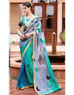 Casual Wear Multi-Colour Georgette Saree  - Akanksha9010