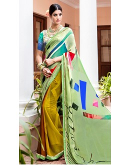 Casual Wear Multi-Colour Georgette Saree  - Akanksha9012