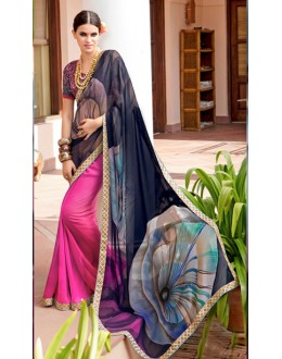Ethnic Wear Multi-Colour Georgette Saree  - Akanksha9015