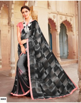 Festival Wear Black Major Georgette Saree  - Anokhi5003