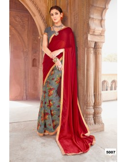 Ethnic Wear Red Major Georgette Saree  - Anokhi5007
