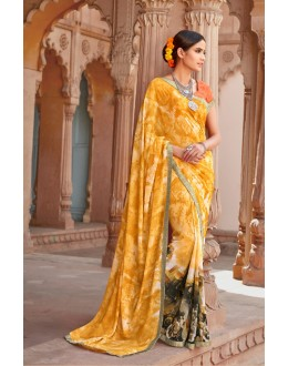 Multi-Colour Major Georgette Saree  - Anokhi5010
