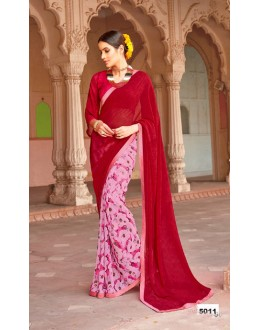 Major Georgette Multi-Colour Saree  - Anokhi5011