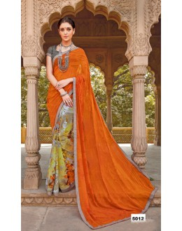 Major Georgette Half & Half Saree  - Anokhi5012