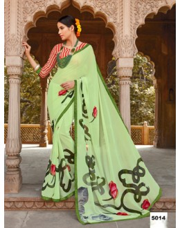 Green Colour Major Georgette Saree  - Anokhi5014