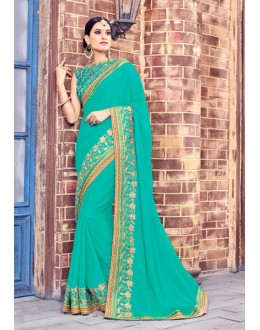 Festival Wear Green Fancy Saree  - Anushee3005
