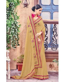 Ethnic Wear Brown Fancy Saree  - Anushee3006