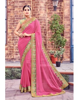 Festival Wear Pink Fancy Saree  - Anushee3011