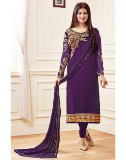 Ayesha Takia In Purple Georgette Salwar Suit  - AD2113Purple