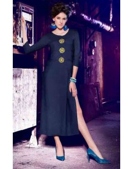 Office Wear Readymade Blue Kurti - BarkhaBD-07