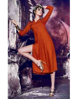 Casual Wear Readymade Orange Kurti - BarkhaBD-11