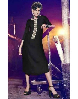 Office Wear Readymade Black Kurti - BarkhaBD-12