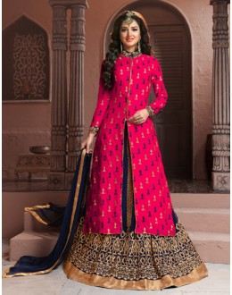 Festival Wear Pink Georgette Lehenga Suit  - BRIDAL08