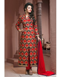 Party Wear Multi-Colour Slit Salwar Suit  - BRIDAL10
