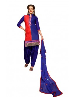 Ethnic Wear Orange & Purple Patiyala Suit  - CandyCrush6010