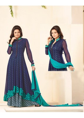 Praty Wear Blue Designer Salwar Suit  - 86008