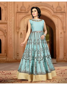 Party Wear Ready-Made Banglori Gown - Diana1001