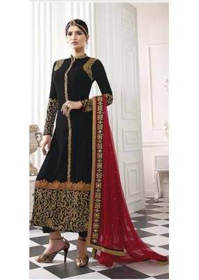 Party Wear Black & Red Salwar Suit - EternalMehreen163
