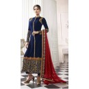Party Wear Blue & Red Salwar Suit - EternalMehreen164