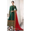 Party Wear Green & Red Salwar Suit - EternalMehreen165