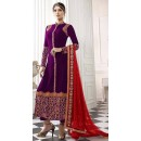 Party Wear Pink & Red Salwar Suit - EternalMehreen166