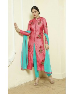 Ethnic Wear Pink Cotton Salwar Suit - Gazal2Pink