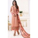 Ethnic Wear Peach Georgette Embroidered Salwar Suit  - 1506