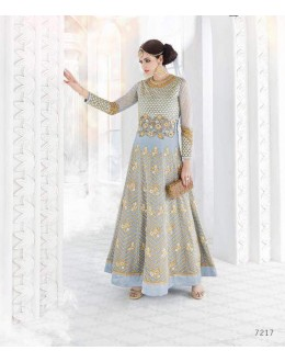 Festival Wear Light Grey  Anarkali Suit - Glossy7217