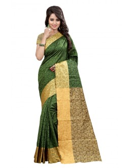 Party Wear Cotton Silk Saree  - GULABO FLOWER MEHANDI