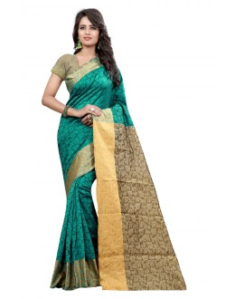 Party Wear Cotton Silk Saree  - GULABO FLOWER RAMA