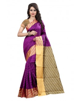 Festival Wear Cotton Silk Saree  - GULABO PAN MAGENTA