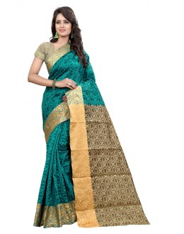 Festival Wear Cotton Silk Saree  - GULABO ROUND RAMA
