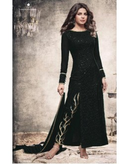 Priyanka Chopra In Black Slit Salwar Suit  - Heroine5149-A
