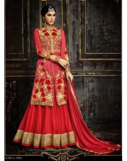 Festival Wear Multi-Colour Pure Georgette Lehenga Suit  - 3991