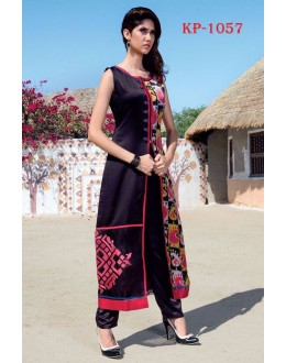 Party Wear Readymade Multi-Colour Slit Kurti - JumariKP1057